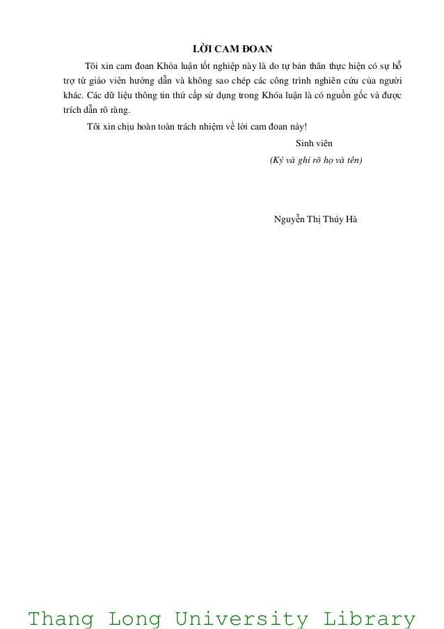 LỜI CAM ĐOAN Tôi xin cam đoan Khóa luận tốt nghiệp này là do tự bản thân thực hiện có sự hỗ trợ từ giáo viên hướng dẫn và ...