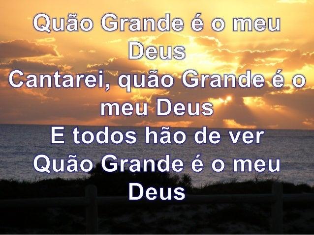 O Meu Deus E Mais: Quão Grande é O Meu Deus Soraya Moraes