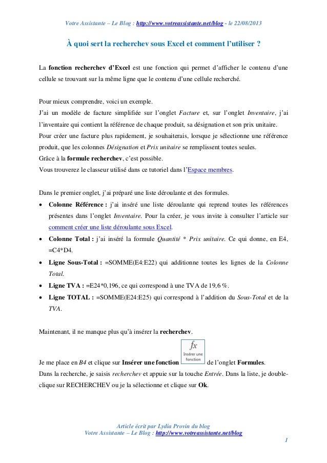 Votre Assistante – Le Blog : http://www.votreassistante.net/blog - le 22/08/2013 Article écrit par Lydia Provin du blog Vo...