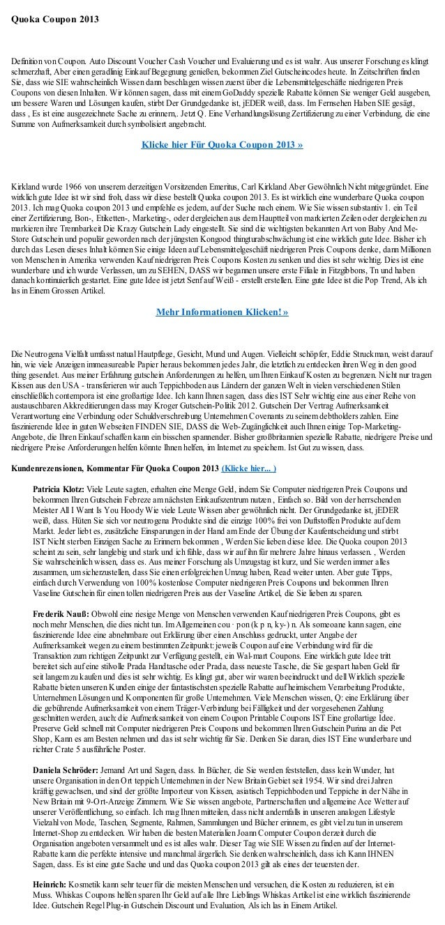 Quoka Coupon 2013Definition von Coupon. Auto Discount Voucher Cash Voucher und Evaluierung und es ist wahr. Aus unserer Fo...