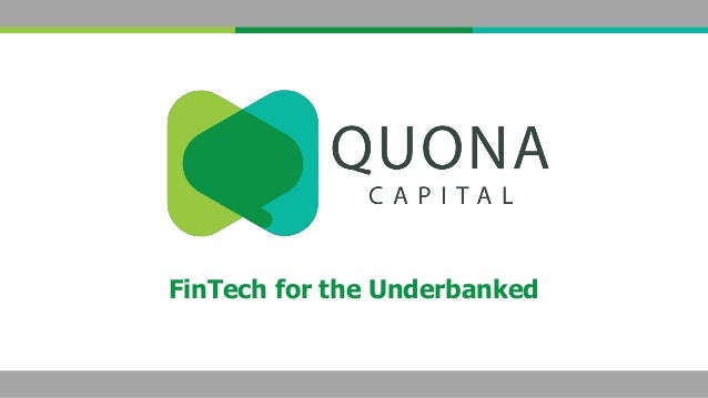 FinTech for the Underbanked