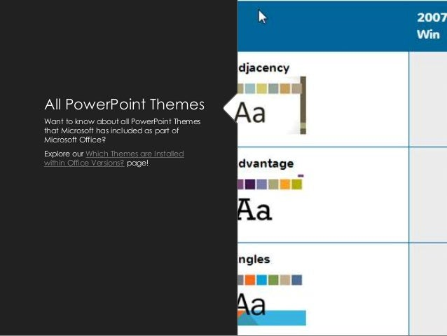 5 all powerpoint themes