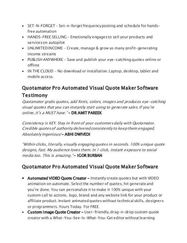 Image of: Autopilot Social Networks 13 Slideshare Quotamator Pro Automated Visual Quote Maker Software