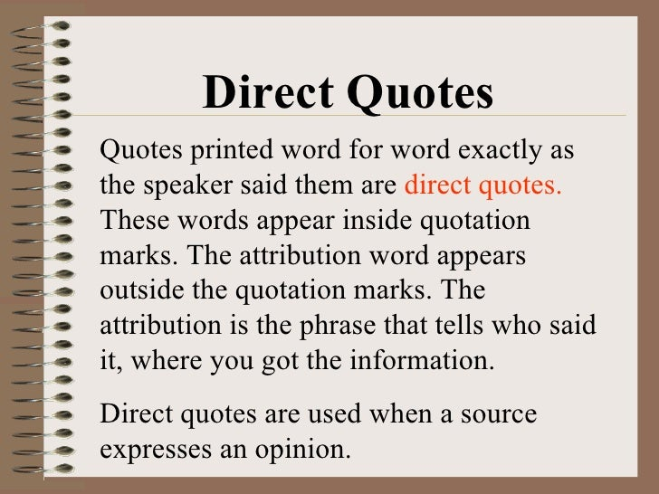 Direct Quote Interesting Quotations
