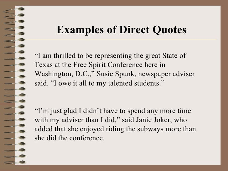 Direct Quote Impressive Quotations