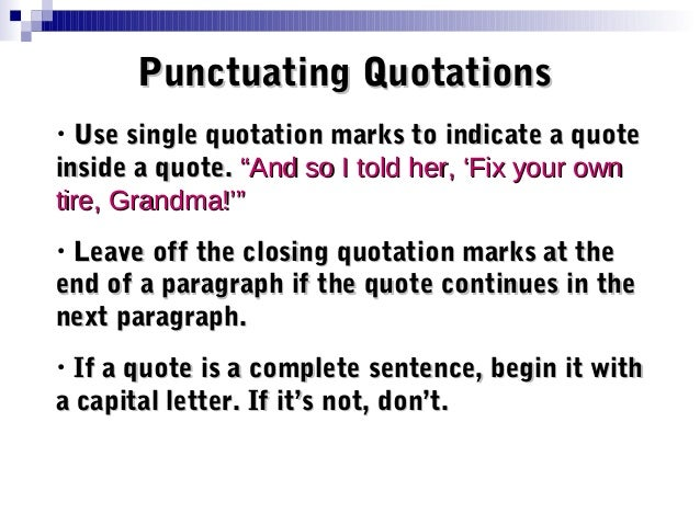 Punctuation Of Dialogue - Lessons - Tes Teach