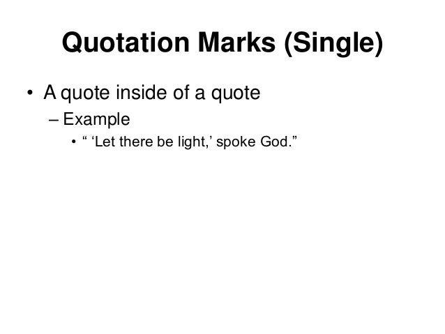 quote inside a quote