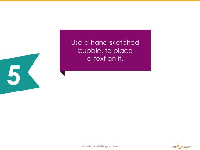 Use a hand sketched bubble, to place a text on it. 5