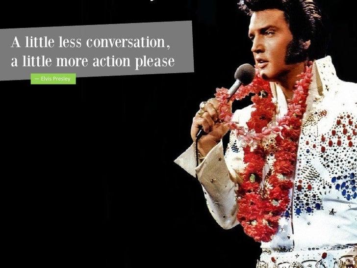 Songtext von Elvis Presley - A Little Less Conversation Lyrics