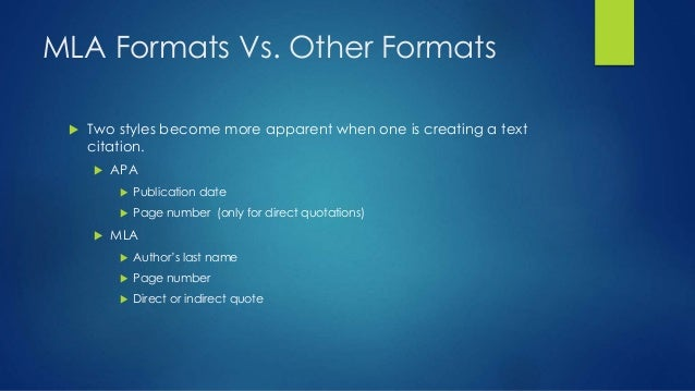 how to format direct quotations in mla format