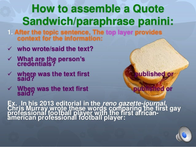 paraphrases in essays How to summarize, paraphrase, and quote from sources as you identify and evaluate research sources, you must make accurate notes of information you think might be.