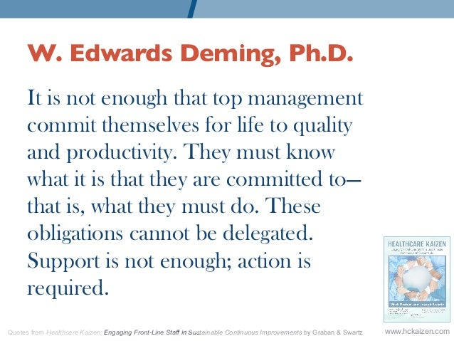 W  Edwards Deming, Ph D  It