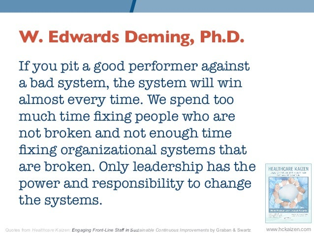 W Edwards Deming Ph D If