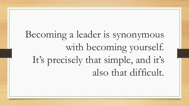 an analysis of the book on becoming a leader by warren bennis On becoming a leader: edition 4 - ebook written by warren bennis read this book using google play books app on your pc, android, ios devices download for offline reading, highlight.