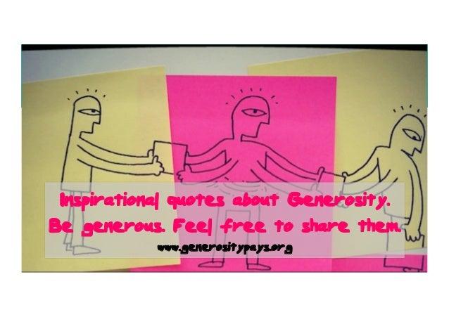 Quotes Generosity Pays