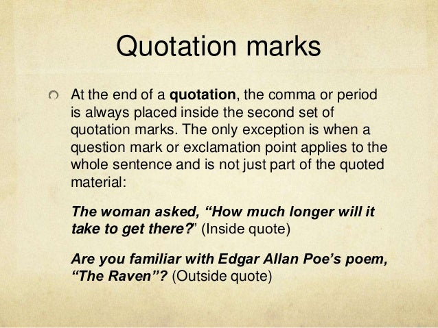 Fast Online Help in text citation quote with question mark – Integrating Quotes Worksheet