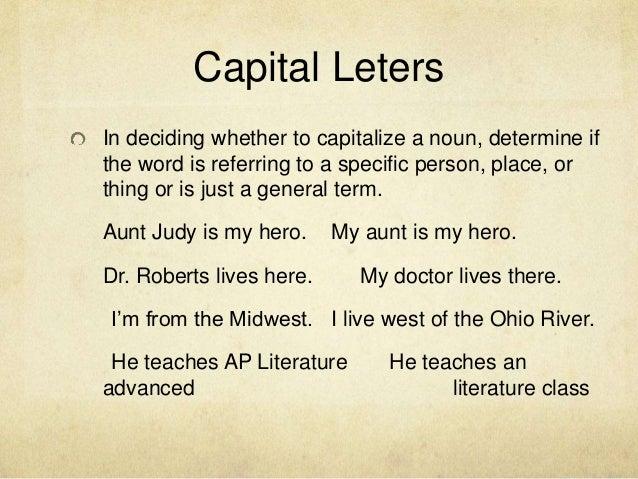 quoting in essays capitalization