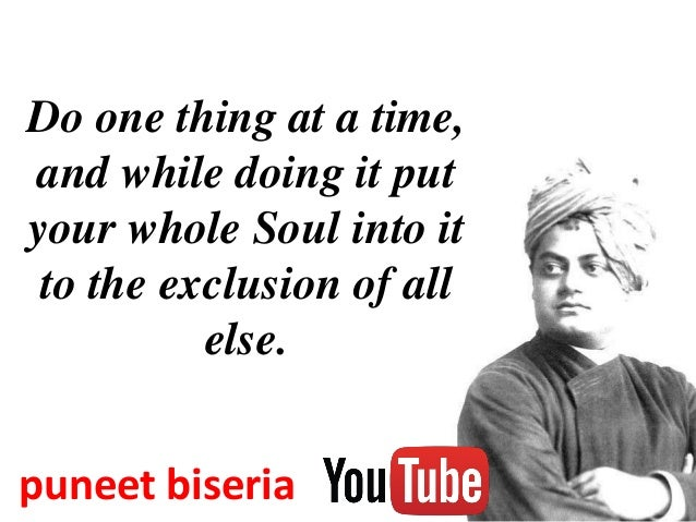 Quotes Of Vivekanand By Puneet Biseria