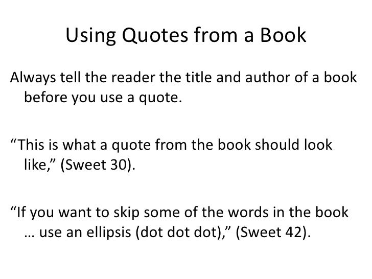 quoting dialogue from a book in an essay Dialogue is (1) a verbal exchange  when quoting dialogue, put the words of each speaker inside quotation marks, and  what is a collage essay in composition.