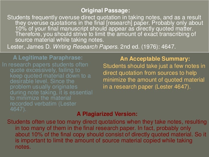 quotation and research notes How to summarize, paraphrase, and quote from sources as you identify and evaluate research sources, you must make accurate notes.