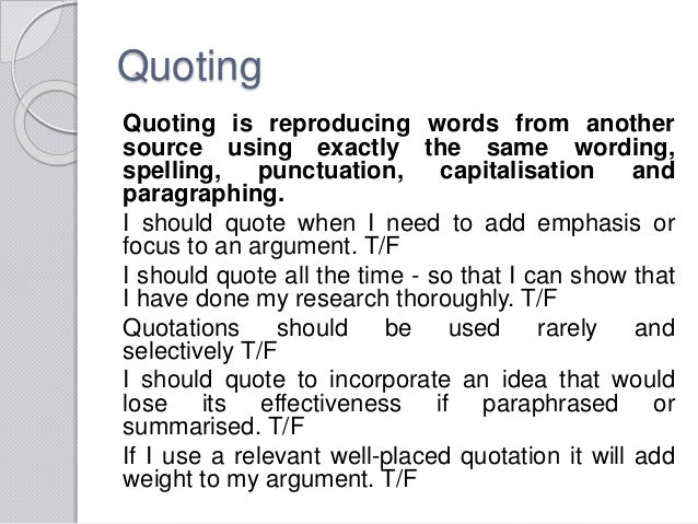 Quotation paraphrase summary worksheet