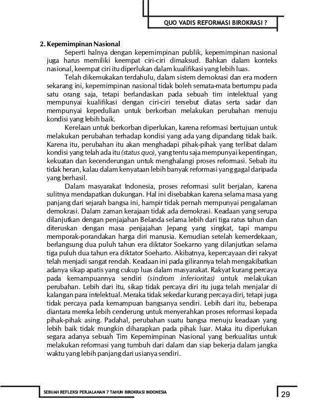 BAB III Aktualisasi Peran Kepemimpinan Dalam Reformasi Birokrasi - Prof. Dr. Asep Kartiwa, SH.,MS - Pengantar Banyak pihak...