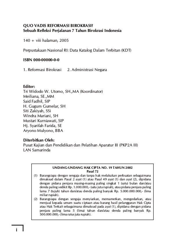 BAB IV Dr. Jusuf Serang Kasim Reformasi Pemerintahan Daerah Dalam Rangka Peningkatan Kinerja Pembangunan dan Pelayanan di ...