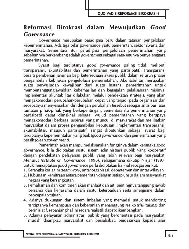 Quo Vadis Reformasi Birokrasi, Sebuah Refleksi Perjalanan 7 Tahun Birokrasi Indonesia
