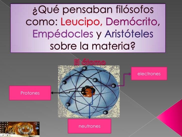 electronesProtones           neutrones