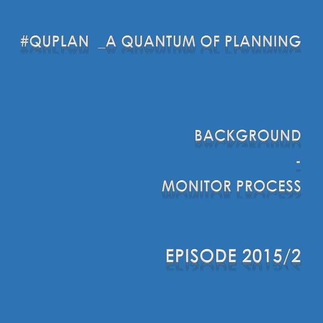 "#QuPlan #QuPlan discusses the current status of planning and project management, and then builds up on ""unconnected"" dots ..."