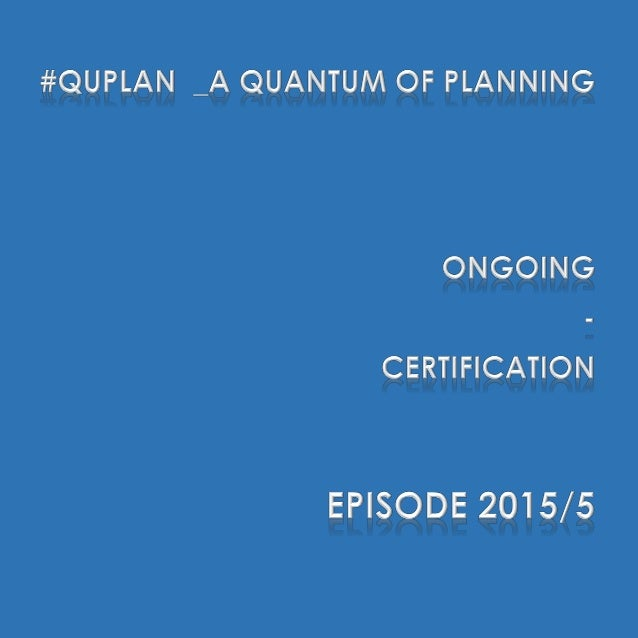 """#QuPlan #QuPlan discusses the current status of planning and project management, and then builds up on """"unconnected"""" dots ..."""