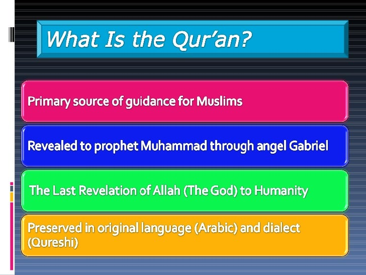 Quran: Compilation, Transmission & Preservation Slide 2