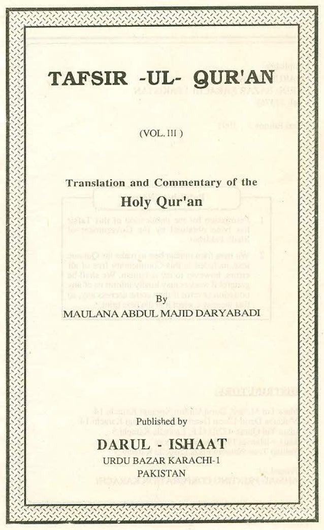 Quran english commentary-abdul majid daryabadi vol.3 (www.australianislamiclibrary.org)