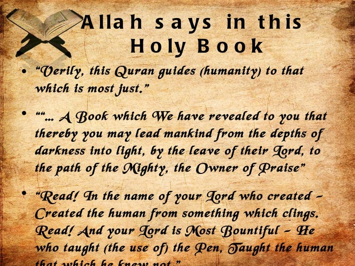 Essay on holy quran in english