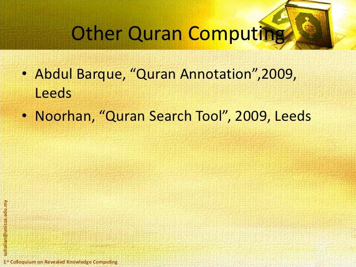 Quran, Hadith and Technology