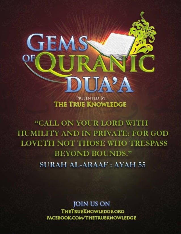 Gems of Quranic Dua