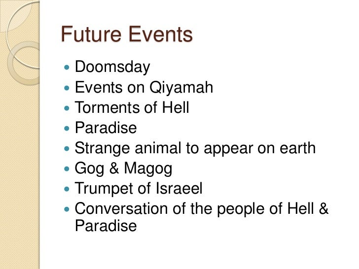 qiyamah or doomsday Related wordssynonymslegend: switch to new thesaurus noun 1 last day - (new testament) day at the end of time following armageddon when god will decree the fates of all individual humans according to the good and evil of their earthly lives crack of doom, day of judgement, day of judgment, day of reckoning, doomsday, end of the world, eschaton, judgement day, judgment day, last judgement .