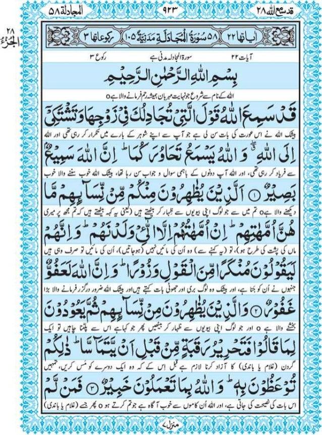 Quran With Urdu Tarjuma Pdf