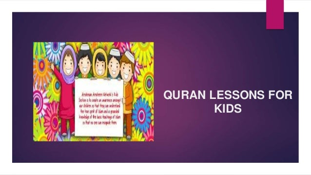 Quran Lessons For Kids