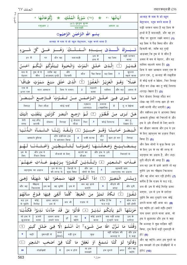QURAN PDF IN HINDI PDF