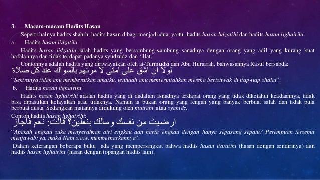 Qurdist 10 Semester 2 Hadist Segi Kualitas