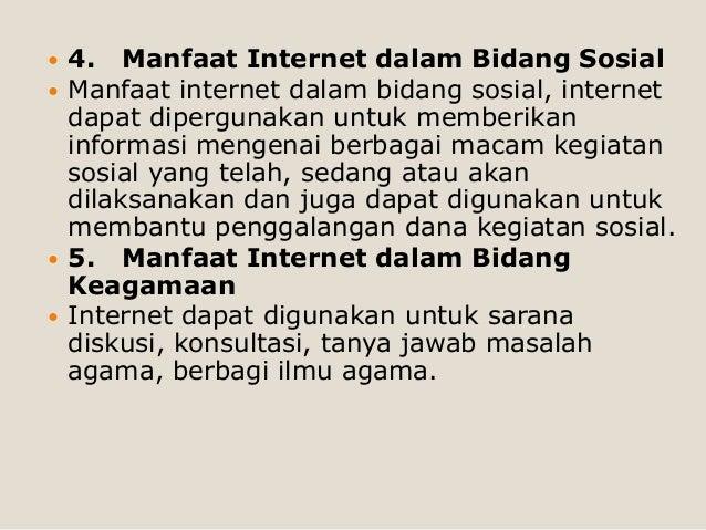 Manfaat Internet Dalam Bidang Sosial - Puspasari