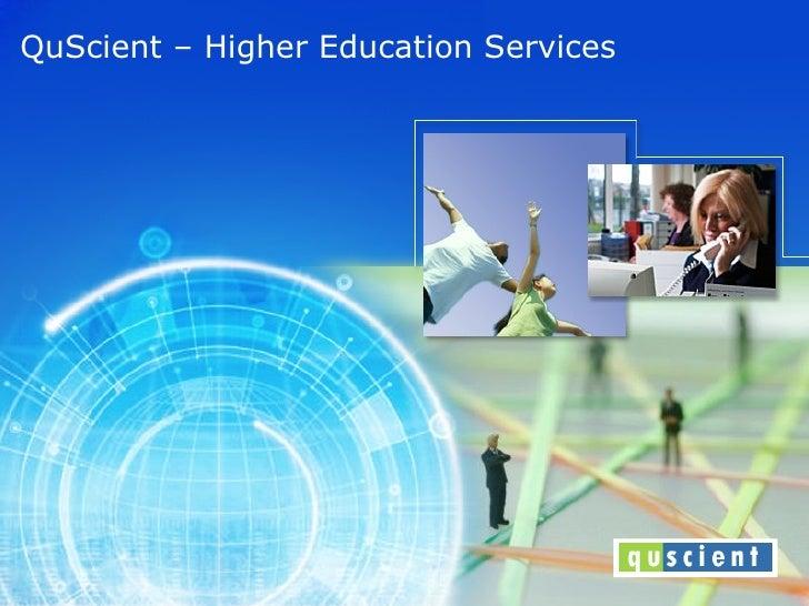 QuScient – Higher Education Services