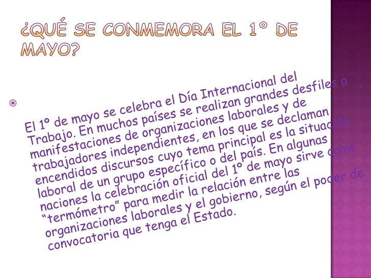 Qu se conmemora el 1 de mayo for Gimnasio 1 de mayo