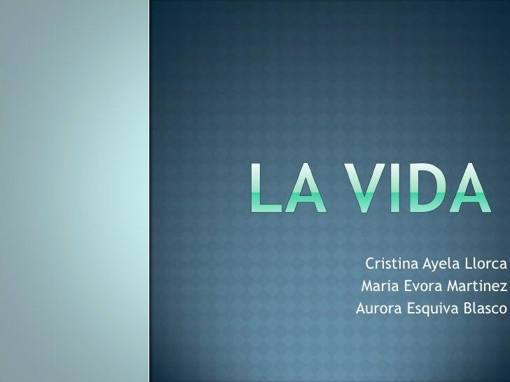 Cristina Ayela Llorca Maria Evora Martinez Aurora Esquiva Blasco