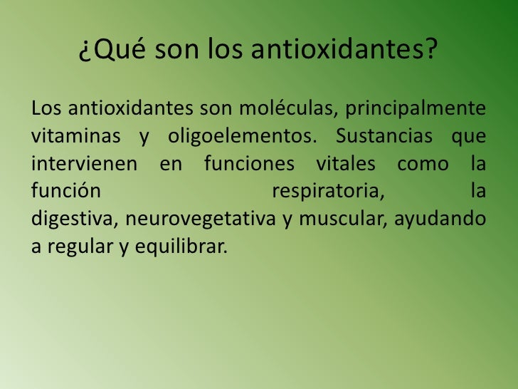 qu u00e9 son los antioxidantes