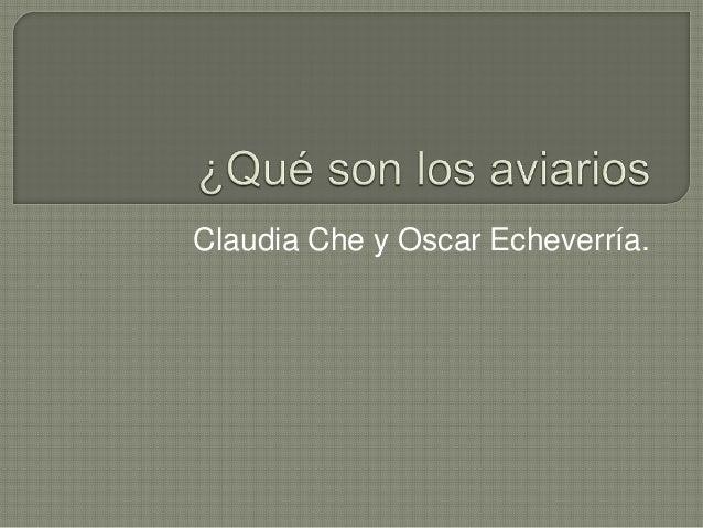 Claudia Che y Oscar Echeverría.