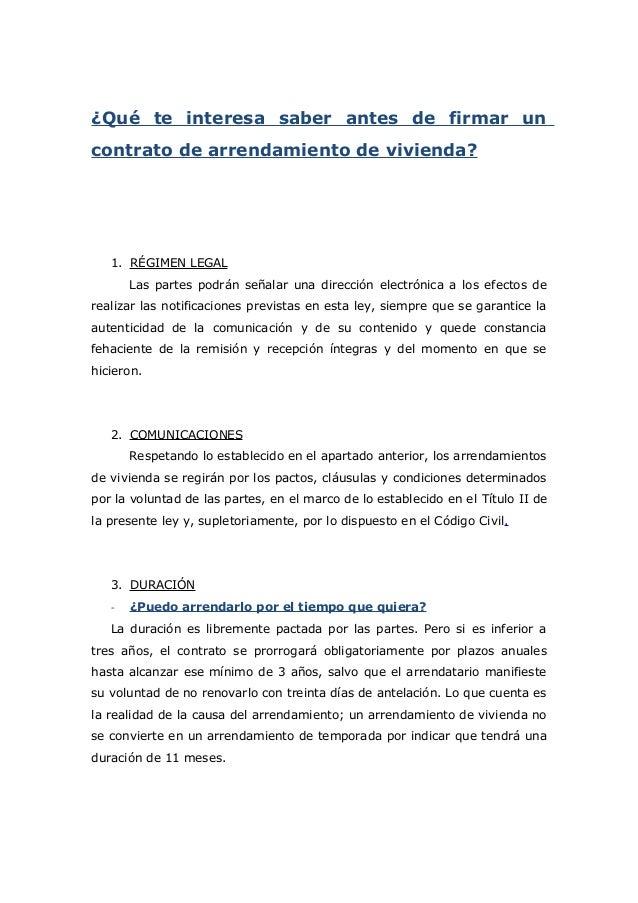 Contrato De Arrendamiento De Vivienda 2015 Contratos De