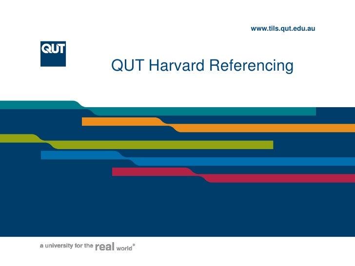 QUT Harvard Referencing<br />