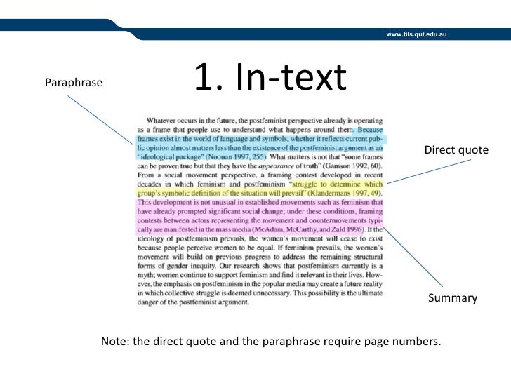 Paraphrasing in communication harvard referencing guide